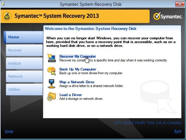 Restoring A Uefi Based System With Symantec System Vox
