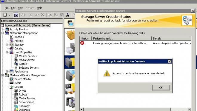Storage Server Error - VOX