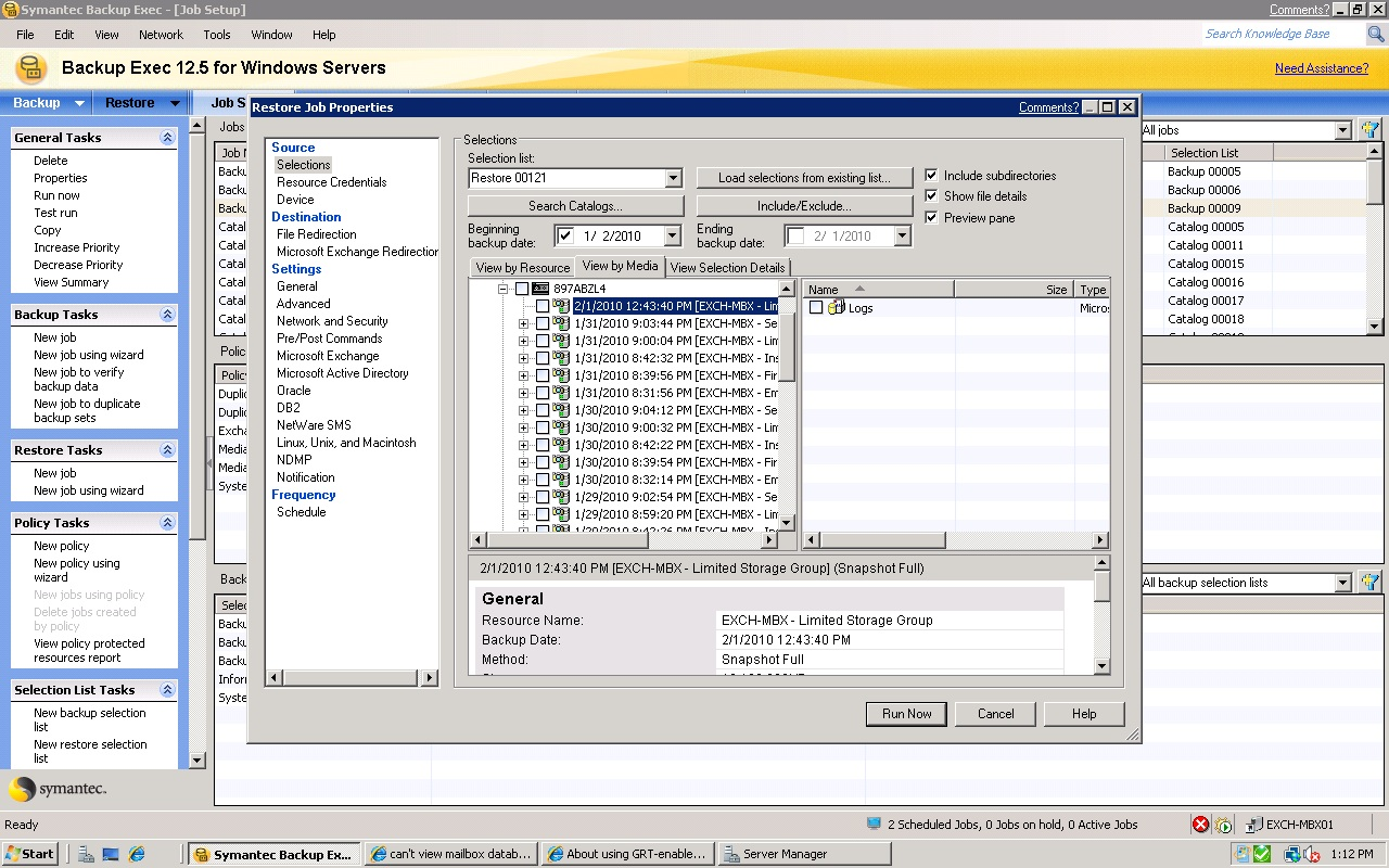 SYMANTEC BACKUP EXEC 12.5 TAPE WINDOWS 8.1 DRIVER
