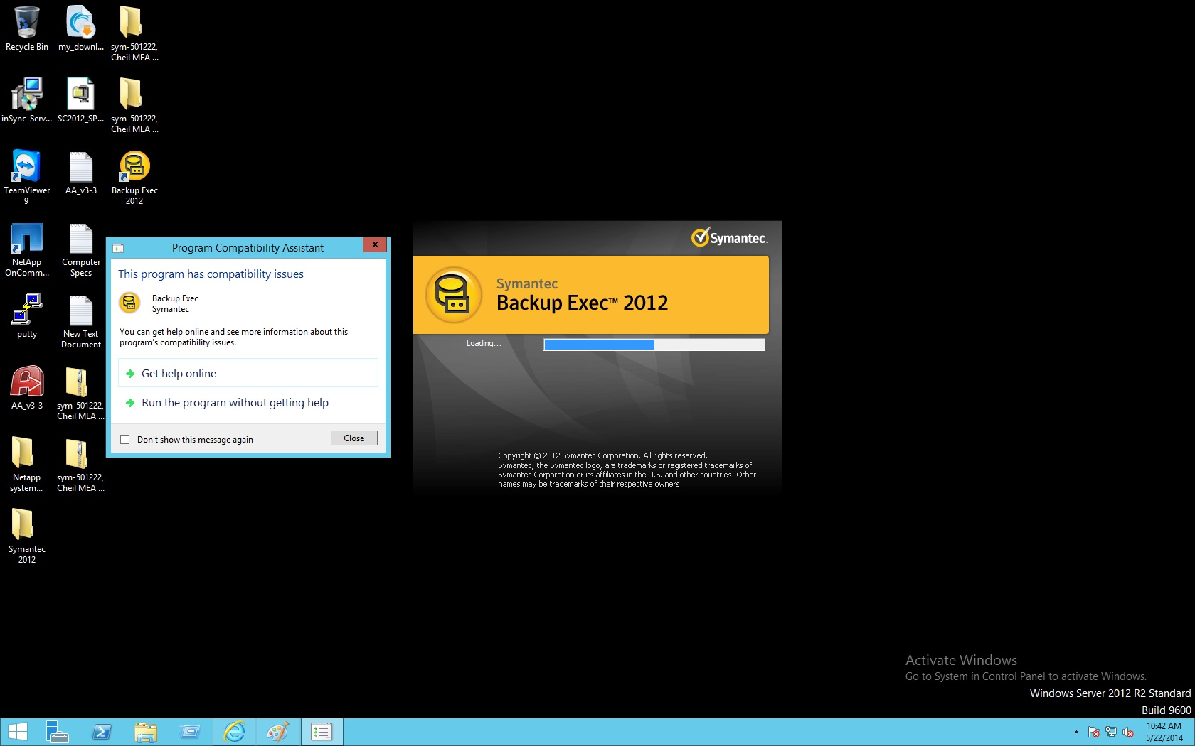 Backup exec 2012 – deploying remote agents to servers online.