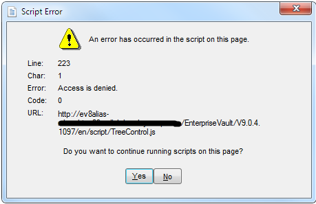 Archive Explorer script error - VOX