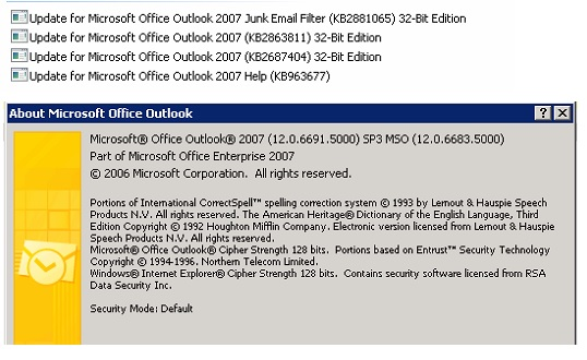 Solved: Failing to get outlook 2007 to work with Exchange