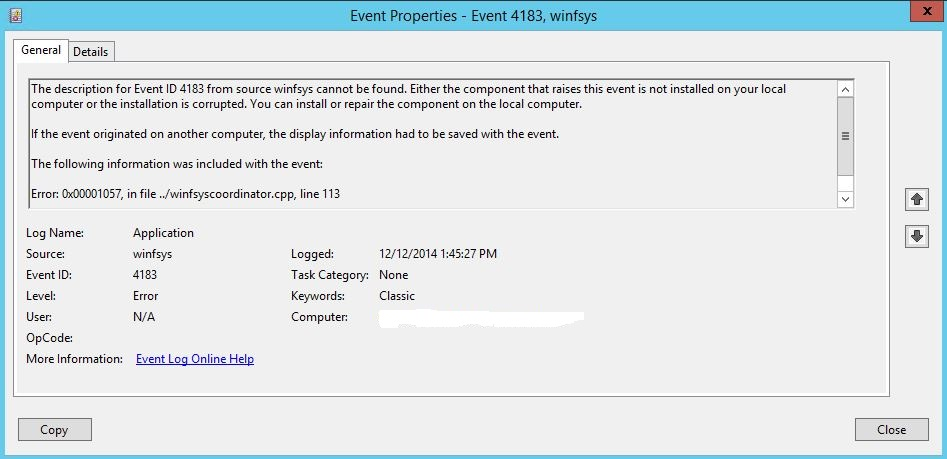Solved: Hyper-V 2012 R2 backups failing with 4201 in NB 7