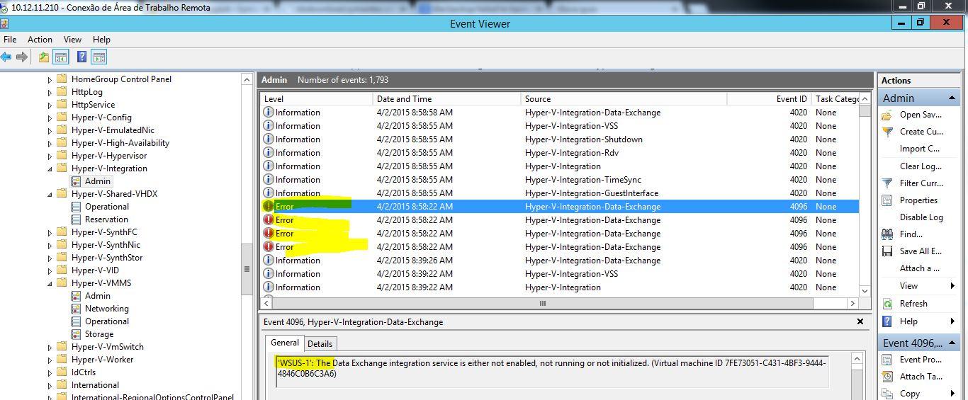 Problem in backup Virtual Machine Hyper V - the ba    - VOX