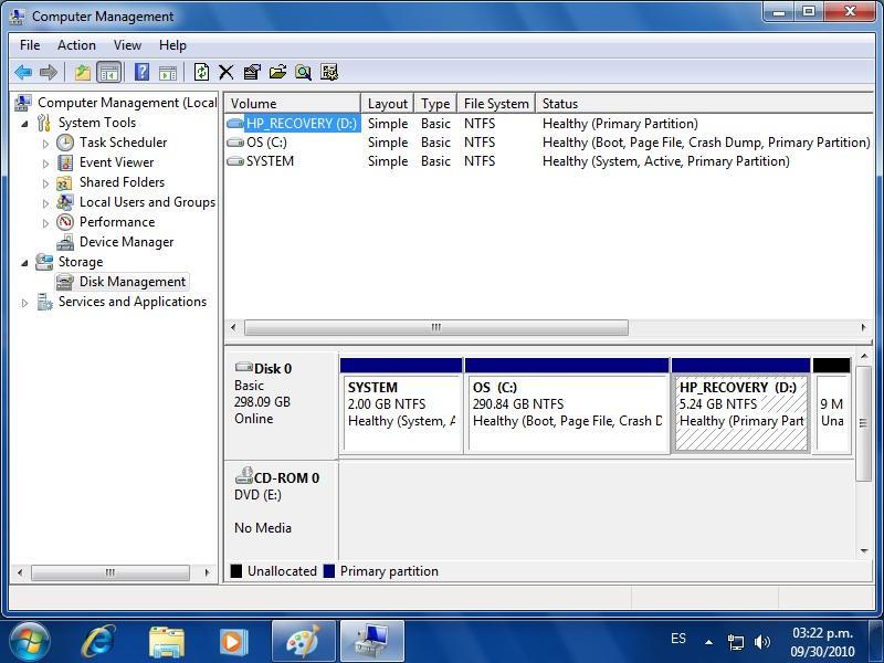 ERROR RESTORE HP COMPAQ 6000 PRO SFF PC - VOX