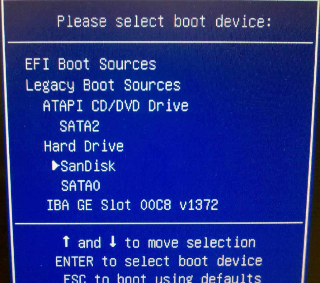 Cannot boot using custom restore disk into HP 8200    - VOX