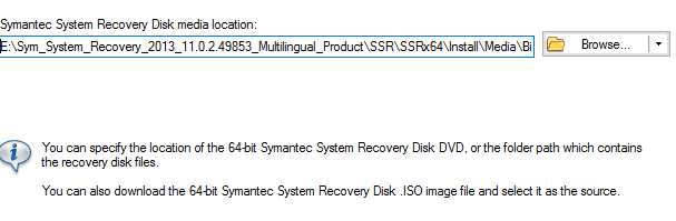 symantec system recovery 2013 download iso