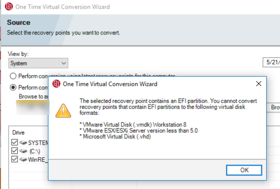 ONe Time Virtual Conversion Wizard - VOX