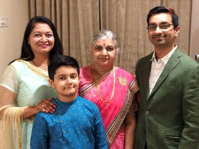 Abhijeet with his family