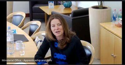 Gillian Keegan, MP, UK Government talking to Veritas' Sales Associates