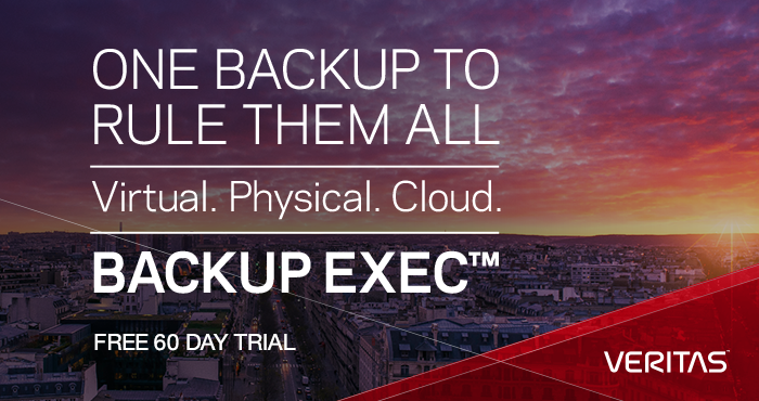 Backup Exec trialware image