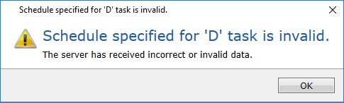 Schedule specified for 'D' task is invalid.PNG