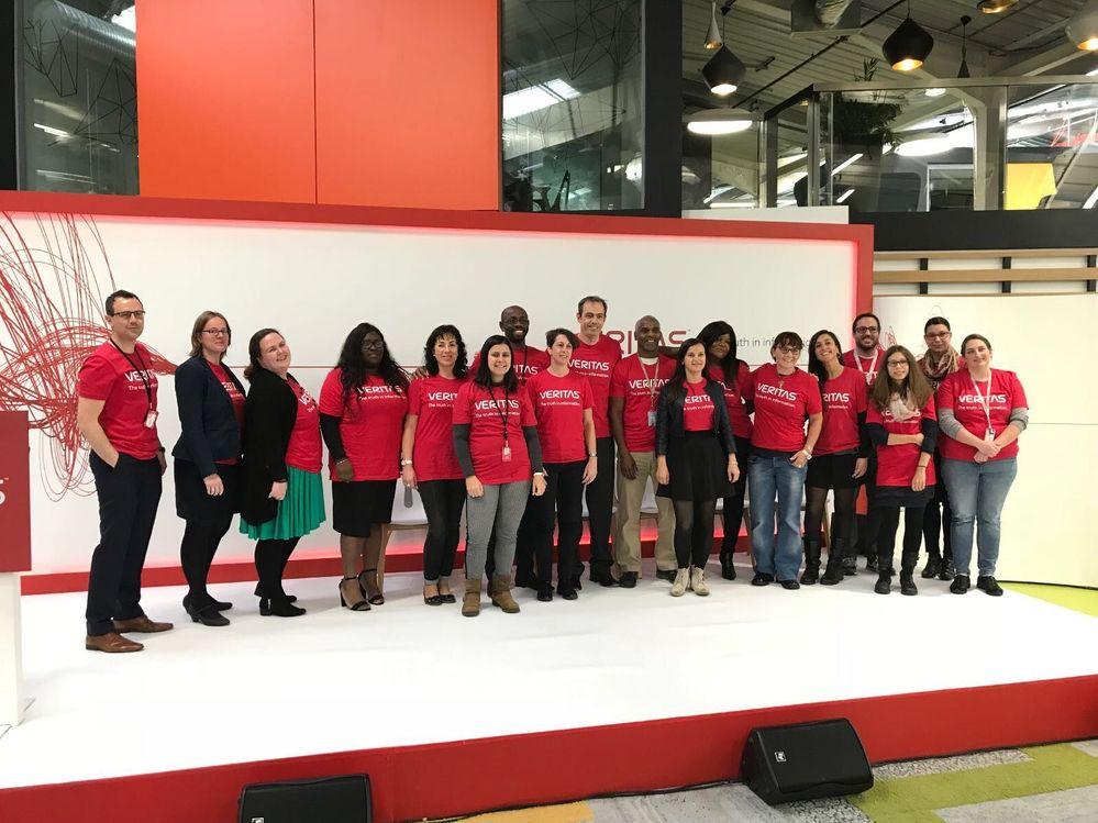 Team Veritas looking great in their red tshirts