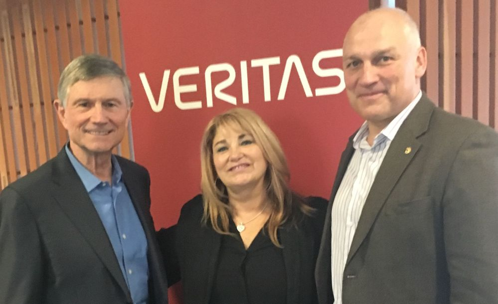 Veritas CEO Bill Coleman supporting Veritas' seasonal ERG efforts.