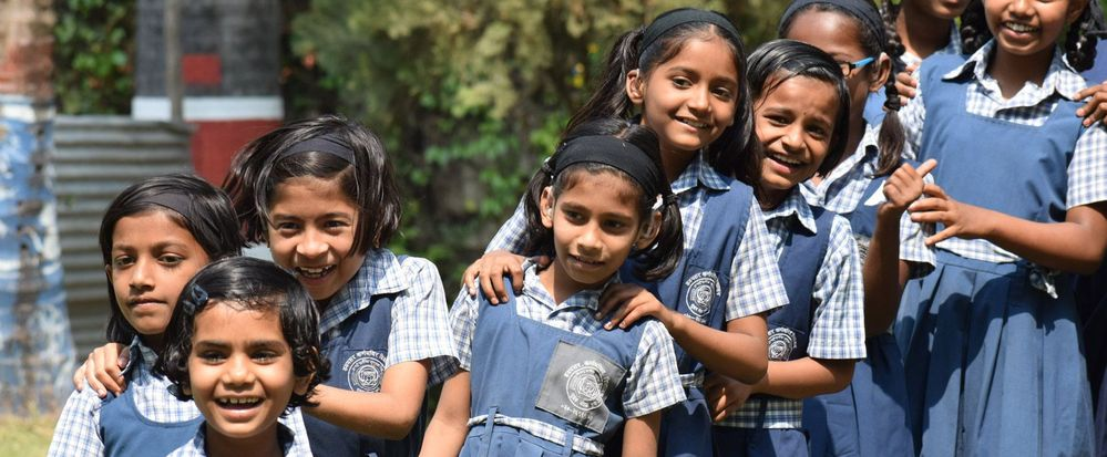 A group of young students from Bal Kalyan Sanstha in Pune.