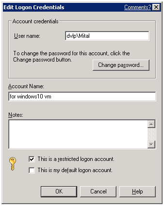 This is what I am using to log into windows10vm where remote agent utility is