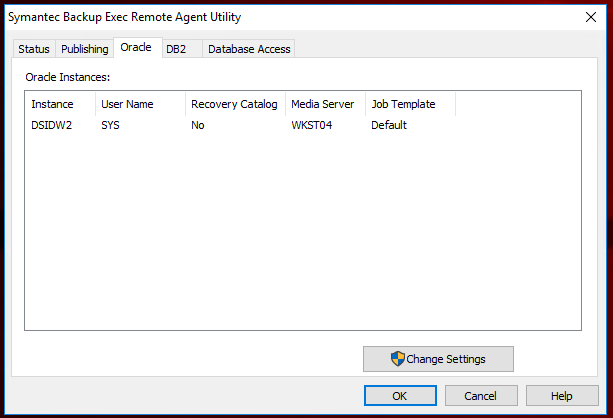 On windows10vm I have Oracle DB and remote agent utility