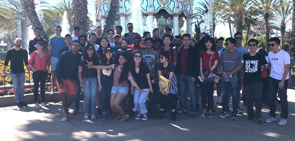 The Veritas University summer interns sharing an afternoon at Great America in celebration of the ongoing program; one of many fun networking events planned by the Veritas University leadership team.