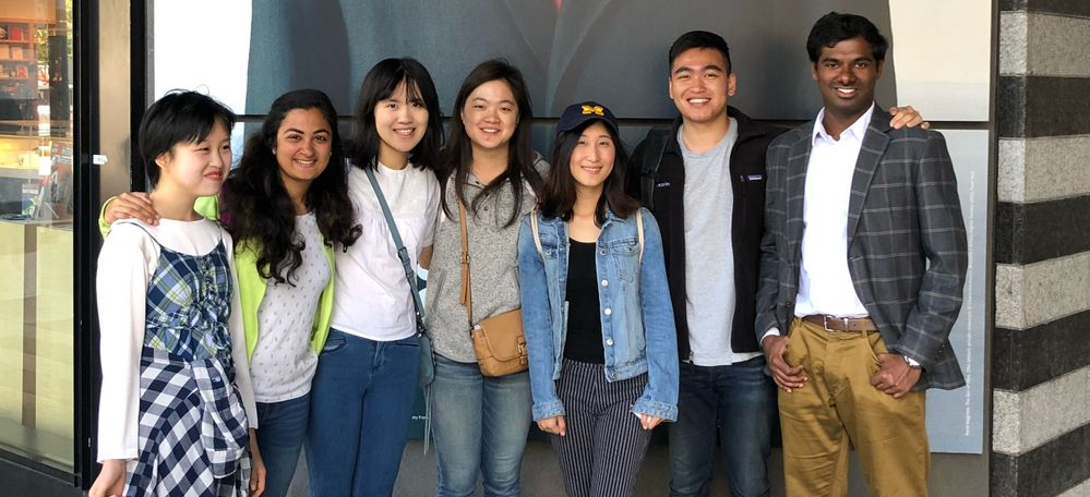 The CX intern team with the Veritas University summer program at San Francisco's MoMA in July, 2018.