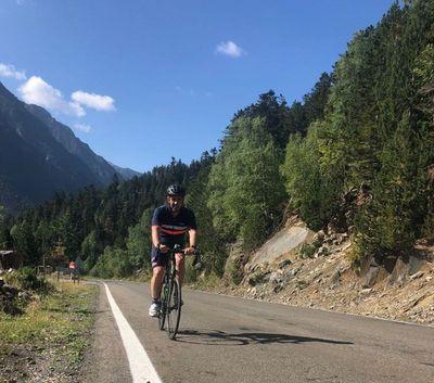 Valentin Pinuaga enjoying his cycling passion