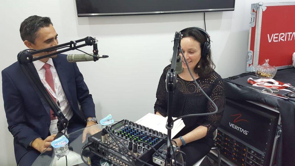 Podcasting with Virgil Dobos of Virtex UAE, a Veritas Partner and me (Zoe Sands).