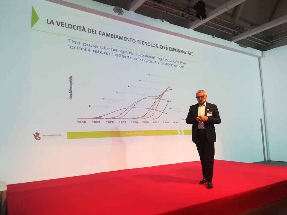 Ezio Viola talked about how organisations can utilise digital transformation and the value of data.