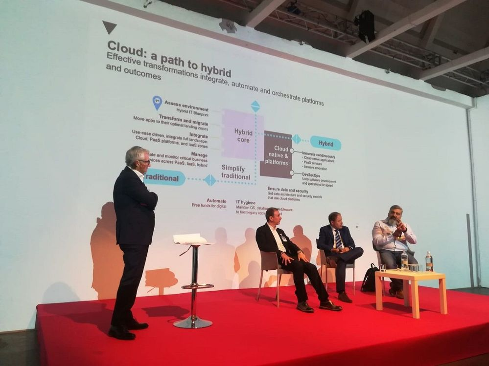 An informative panel session on a journey to a hybrid cloud.