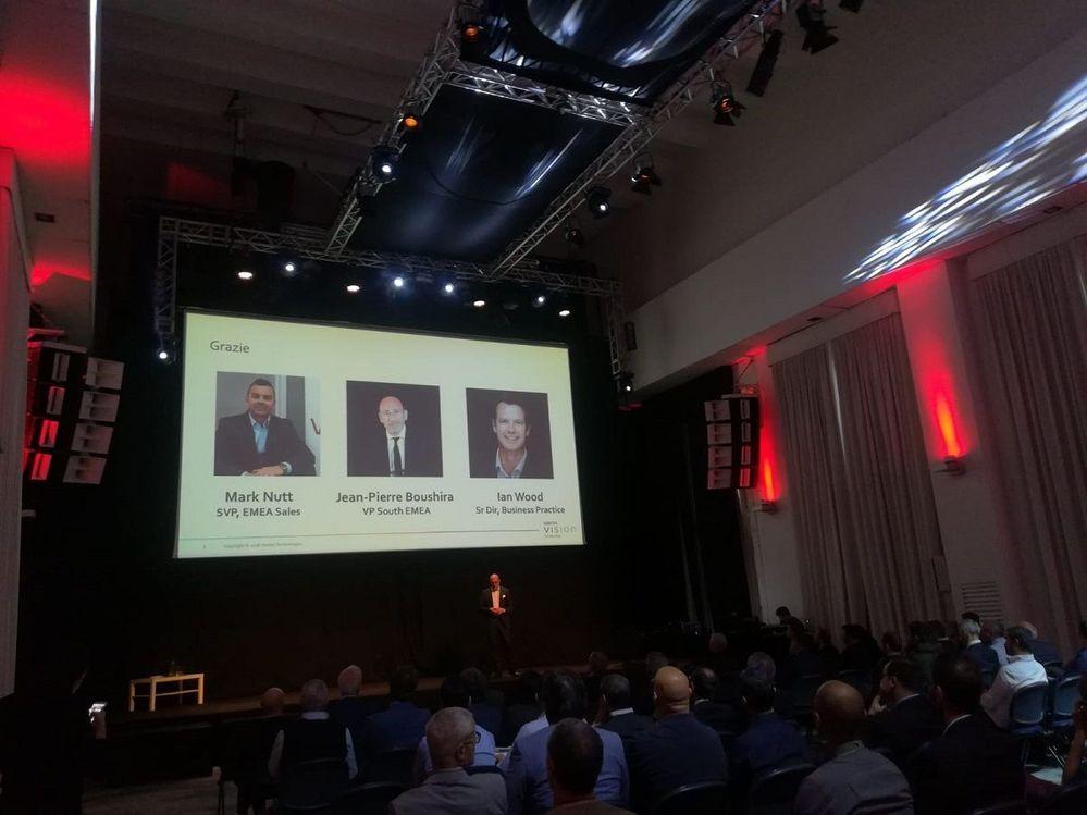 Fabio Pascali, Italy Country Manager introduces Veritas' Execs to VSD Rome.