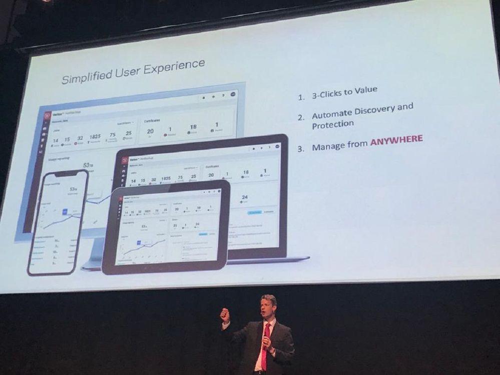 Ian Wood presents Veritas' new simplified user experience.