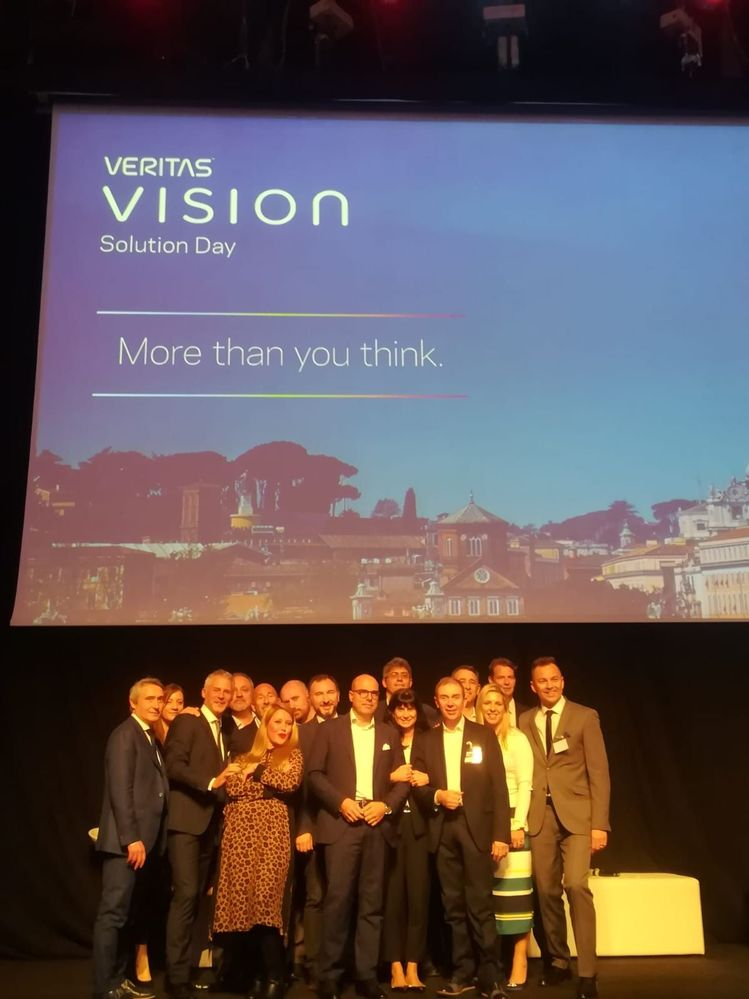 Well done #TeamVtas! Thank you to our customers who attended and our partners and sponsors for supporting Vision Solution Day Rome! See you next year!