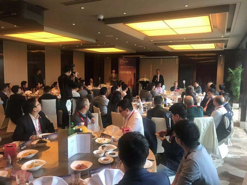 CIO Dinner closed VSD Shanghai. It was great to see our customers and have our partners and sponsors supporting this event. See you next year!