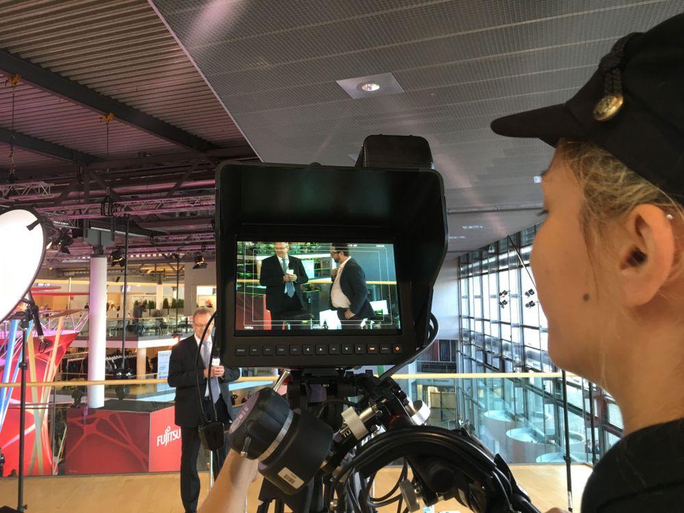 A sneak peek behind the scenes of Harald Derbsch's Fujitsu/Veritas Facebook Live.