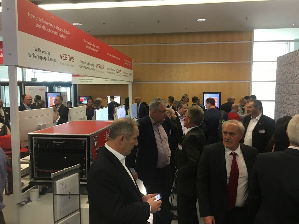 Lots of visitors on Veritas' stand.