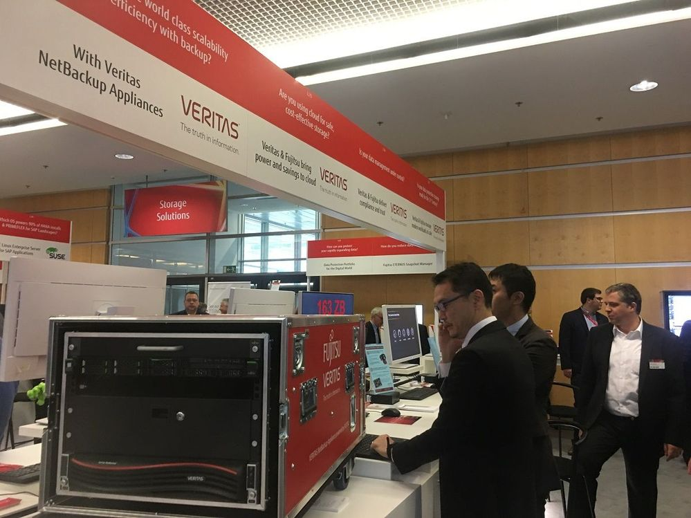Veritas staff from around the world manned the Veritas stand at Fujitsu Forum