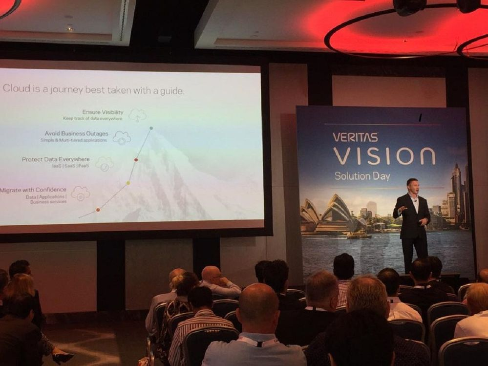 David Noy, VP Product Management flew in from Calfornia to keynote at this VSD and shared his data management knowledge and expertise, which was well received.