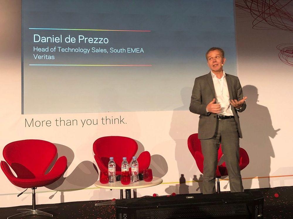 Daniel de Prezzo hosted a cloud panel session which included Microsoft and VMware.