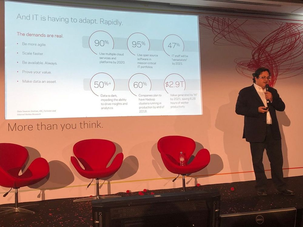 """""""It is necessary for IT to adapt rapidly and become more agile."""" said Cameron Bahar, CTO, Veritas at VSD Paris."""