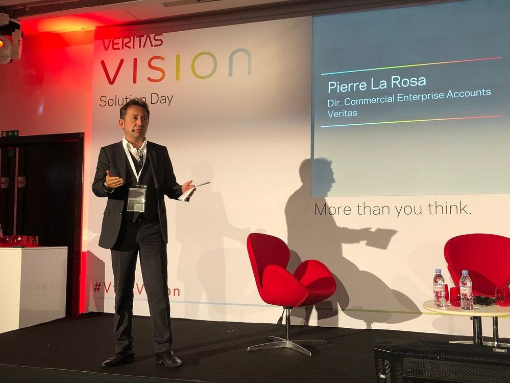 And the final session of the day was delivered by Pierre La Rosa, Director of Commercial Enterprise, Veritas.