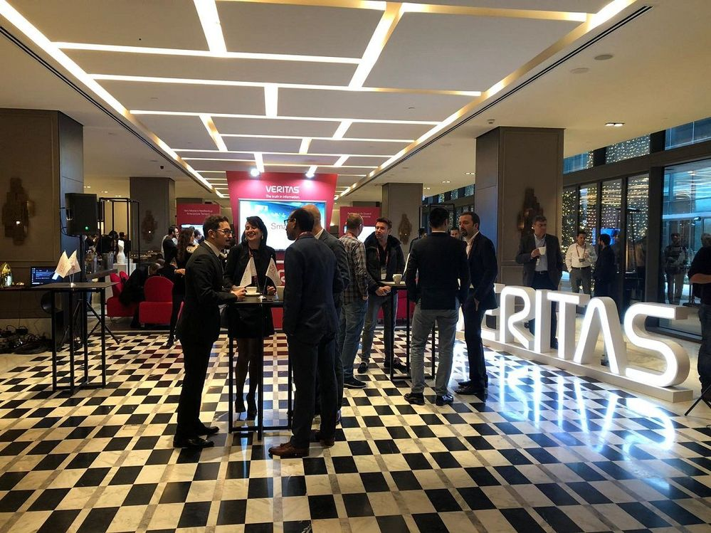 There were plenty of opportunities for customers to network with Veritas staff as well getting time with the partner community too.