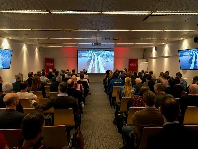 A packed house at VSD Stockholm, with over 120 customers and partners in attendance.