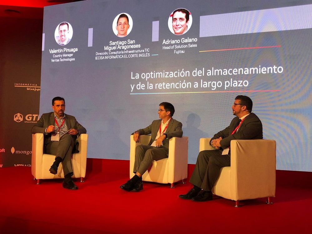 The final panel session held was with Veritas' Strategic Partner; Fujitsu on the optimisation of storage and long-term retention.
