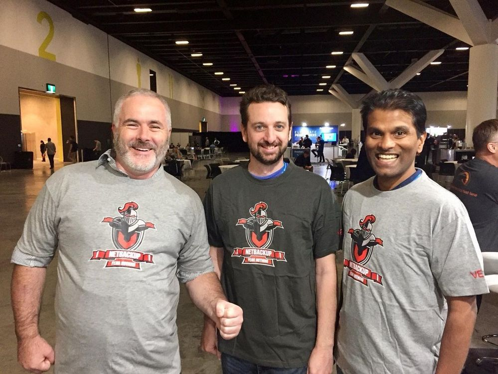 That's what we like to see happy customers sporting NetBackup tshirts.