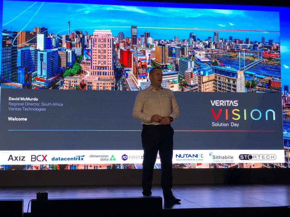 David McMurdo kicks off VSD Johannesburg and introduces the formalities of the day.