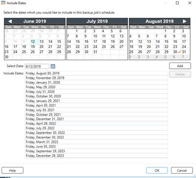 Scheduled Dates