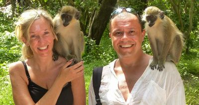 Jason and his wife enjoying a holiday in Africa