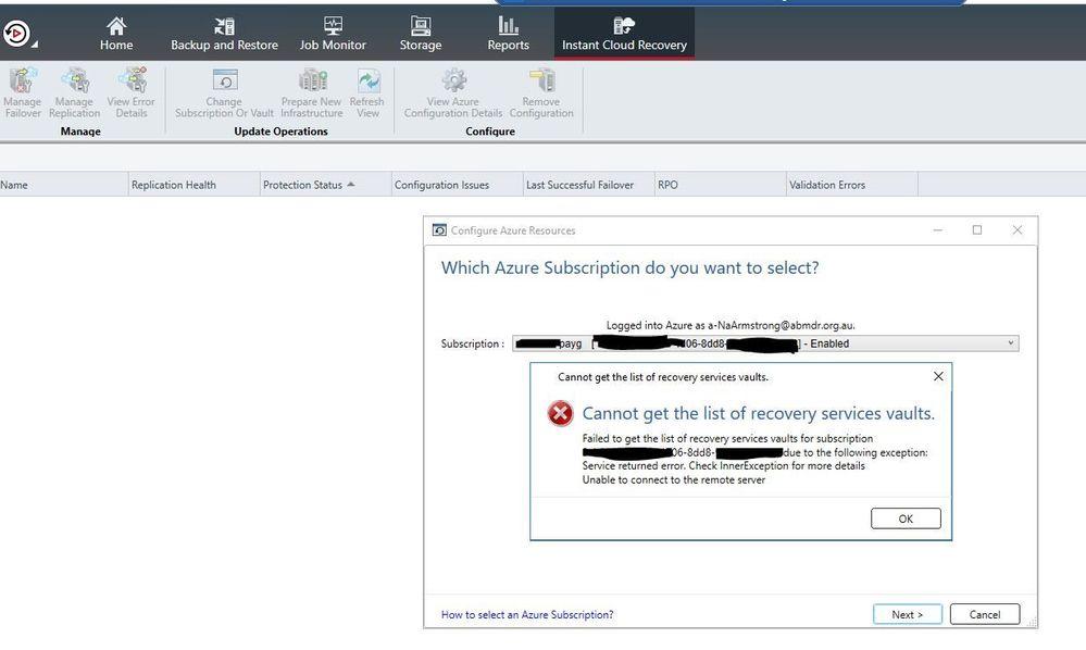 Cannot get list of recivery services vault.JPG