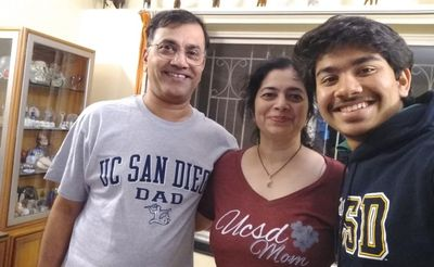 Vijay, his wife and son