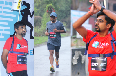 Bhooshan enjoying one of his favorite sports; running