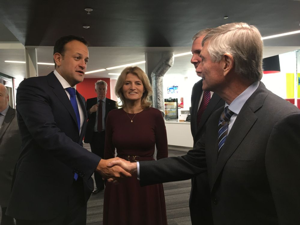 Bill Coleman, CEO welcomes Taioseach, Leo Varadkar