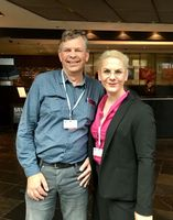 VIPs: Gertjan Alink and Caroline Kiel, at Vision Solution Day in Mainz.